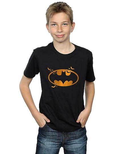 60f00493 Amazon.com: DC Comics Boys Batman Halloween Logo T-Shirt: Clothing