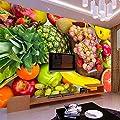 Amazhen Silk Mural 3D Wall Mural Custom Photo Wallpaper Kitchen Fruit Shop Restaurant Background Wall Decor Fruits Vegetables Wall Mural Wallpapers