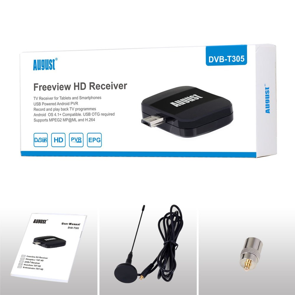 Portable Freeview HD TV Receiver For Android DVB-T And DVB