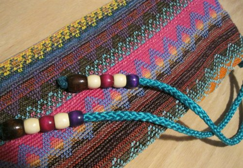 Beautiful Womans - Woven Native American Flute Bag - detailed Highest Quality - Fleece lined