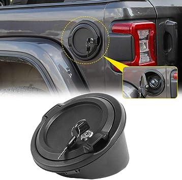 Gas Tank Cap Cover Fuel Filler Door for Jeep Wrangler JL 2018 2019 2-Door 4-Door