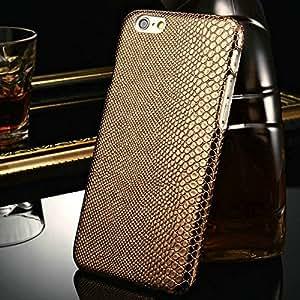 10 pcs/lot Vintage hard Case For iPhone 6 4.7 Inches Lizard skins Pattern Flexible Phone Bag Back Cover Wholesale --- Color:Black