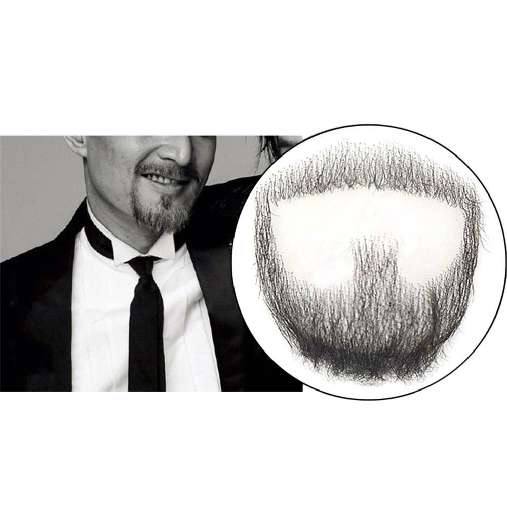 Remeehi perilla de hombre barba pelo humano encaje hecho a mano falso bigote facial disfraz fingir: Amazon.es: Salud y cuidado personal