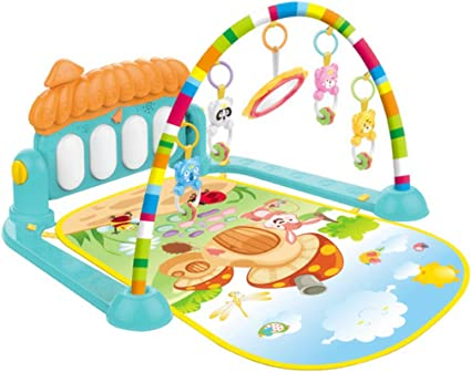 3 In 1 Rainforest Baby Kid Playmat Musical Pedal Piano Activity Fitness Gym Mat