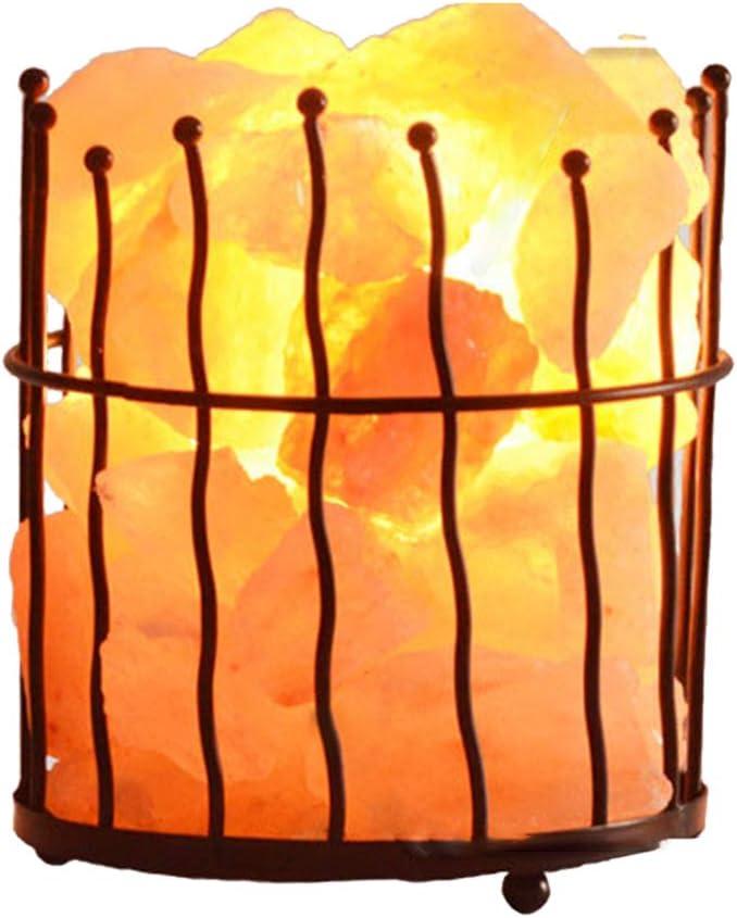 Authda Himalaya - Lámpara de sal decorativa para salón, dormitorio ...
