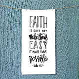 AmaPark quick dry towel large faith does not make things easy it makes them possible bible Fluffy, and Absorbent, Premium Quality w13.8 x H27.5 INCH