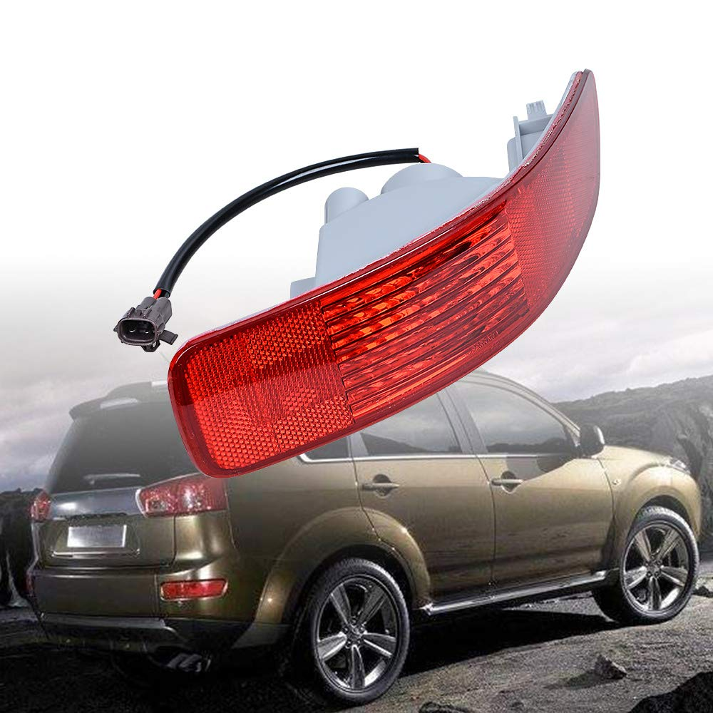 Anzio Rear Bumper Right Tail Side Marker Light Lamp Reflector Compatible with 07-12 Mitsubishi Outlander Peugeot 4007 Citro/ën C-Crosser