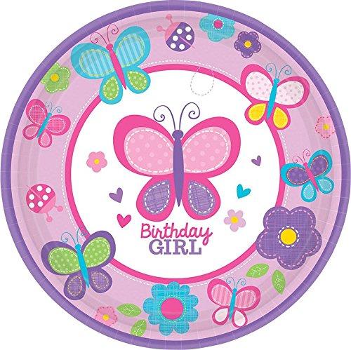1st Birthday Girl Dessert Plate - 7