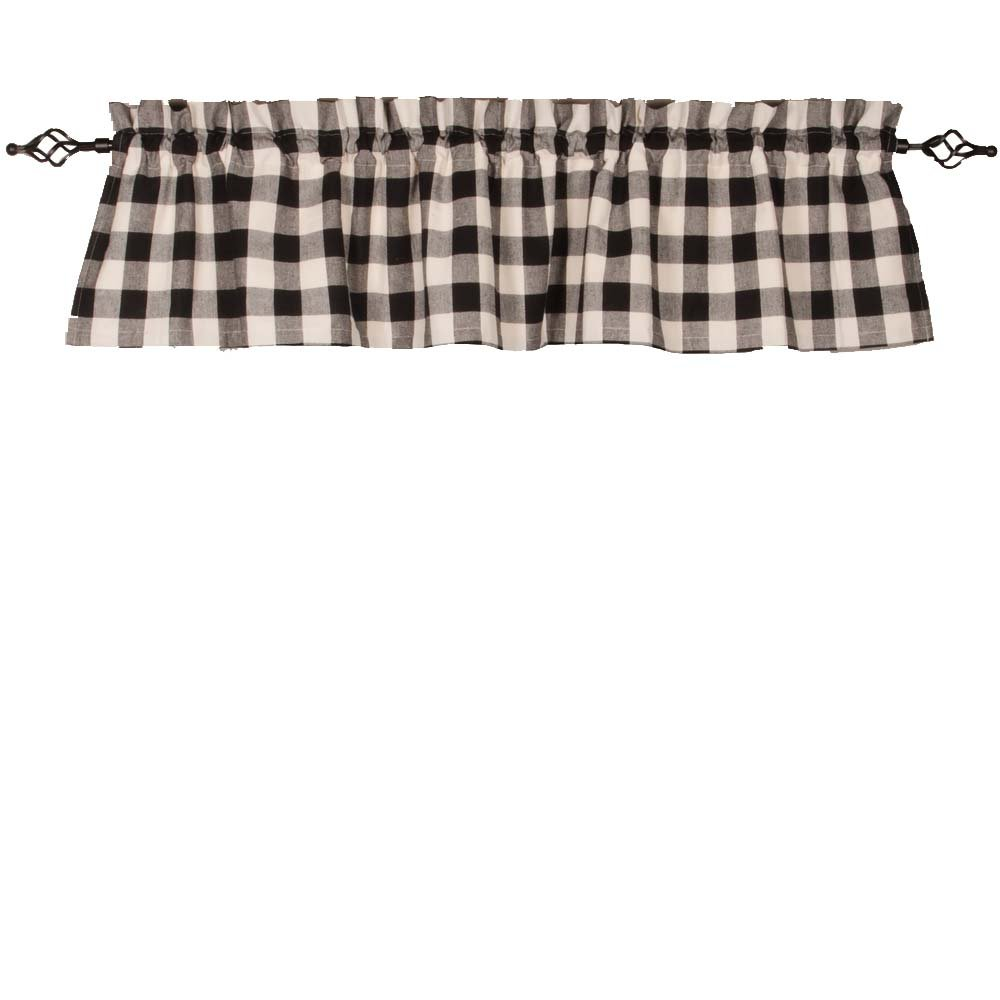 2 Piece Home Collections by Raghu 16.5x18.5 Buffalo Check Black-Buttermilk Tab Towel