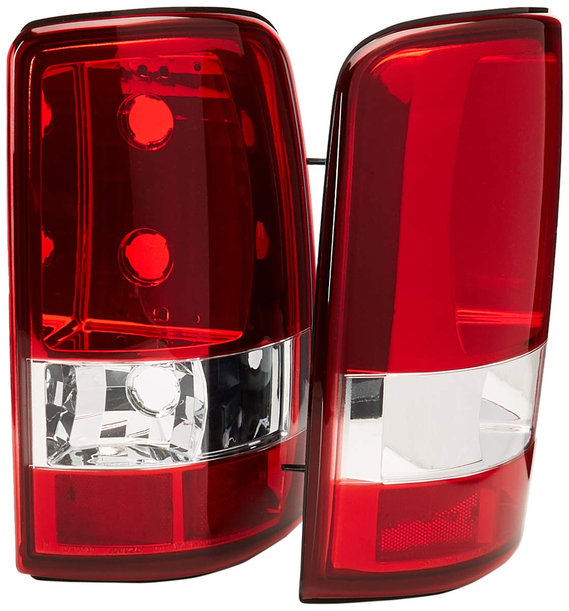 Spec-D Tuning LT-DEN00G2RPW-TM Gmc Yukon Denali//Chevy Tahoe Red Tail Lights