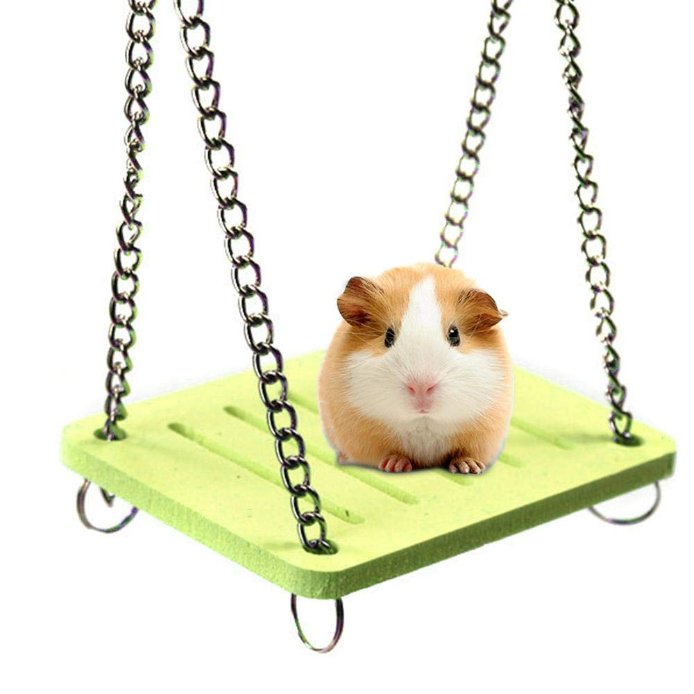 AOLVO Dwarf Hamster Toys, Colored Swing/Hamaca/casa/esconder/Cama ...