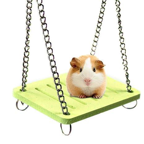 AOLVO Dwarf Hamster Toys, Colored Swing/Hamaca/casa/esconder/Cama ...