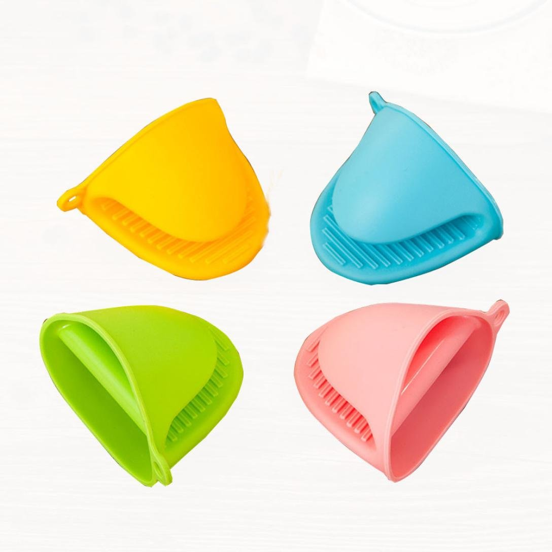 Silicone Mini Mitts, Sacow Heat Resistant Cooking Pinch Mini Oven Insulated Gloves Pot Holder