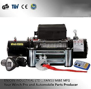 Awsgtdrtg 1 Unidades Eléctrica 9500lbs Cabrestante para automóvil Cable de recuperación Remolque Cables de Acero Kit