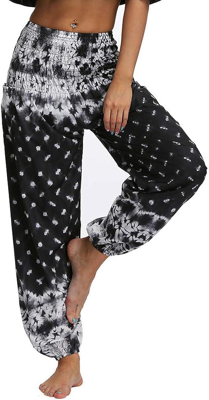 Amazon.com: LISTHA Hippy Yoga Baggy Pants Men Women Casual ...