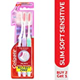 Pack Of 3 Colgate Sensitive Slimsoft Ultrasoft Toothbrush Tooth Brush