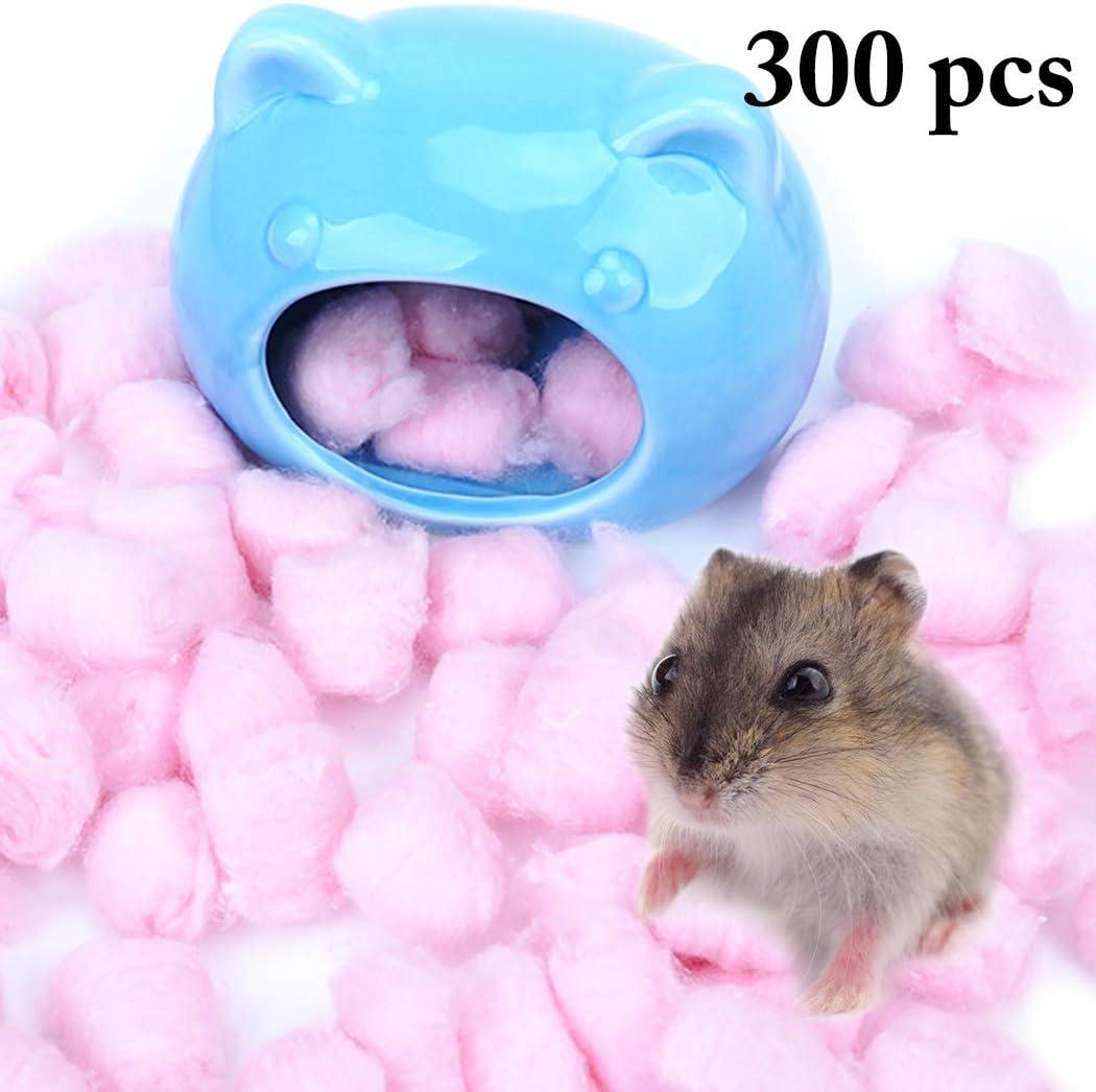 Legendog 300PCS Algodón Bola Calentar Anidamiento Material Hámster Jaula Accesorios para Invierno: Amazon.es: Productos para mascotas