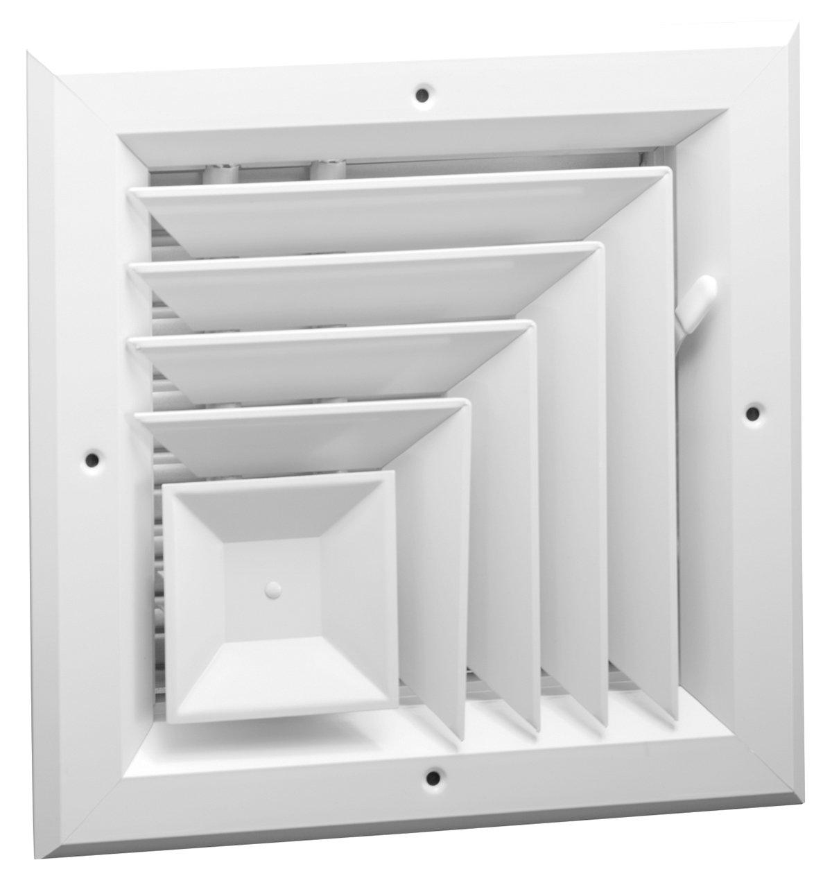 14'' x 14'' - 2 Way Corner Direction Extruded Aluminum Ceiling Diffuser Square - HVAC Vent Cover