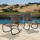 Outdoor Wicker Patio Rocking Chair (Set of 2)