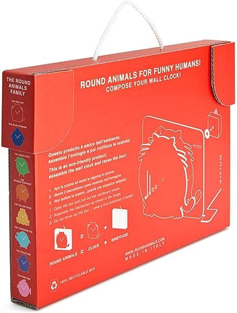 El Gato Rojo. Reloj gato de pared para niños y carpeta de dibujos de colores, Reloj de pared rojo, Decoracion de pared para niños en carton reciclado, ...