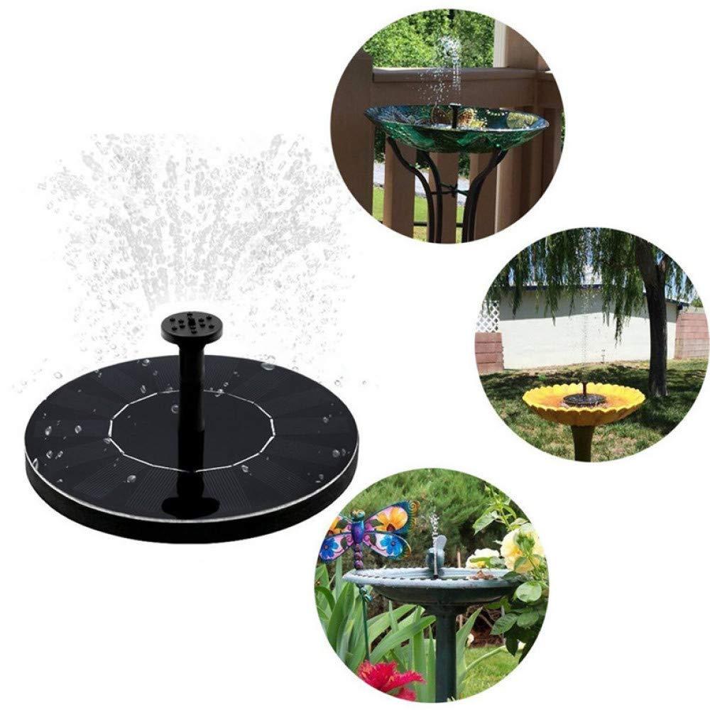 HUANGYABO Solar Birdbath Fountain Pump 1.4W Solar Outdoor Water Fountain Panel Kit Panel