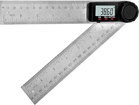 200mm 2 in1 Digital Angle Finder Meter Protractor Goniometer Ruler 360° Measurer