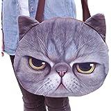 Good Bag Women's Shoulder Bag Zipper Tote Bag Cross-body Bag with Cute Animal Cat Head Printing