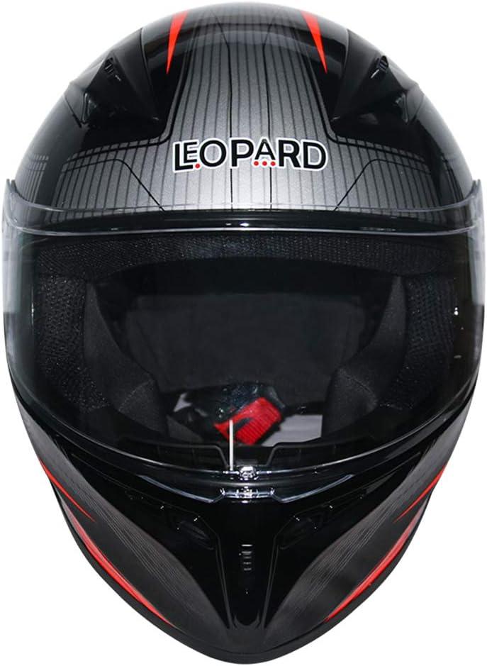 Leopard LEO-813 Casque Moto Int/égral ECER Homologu/é Homme Femme