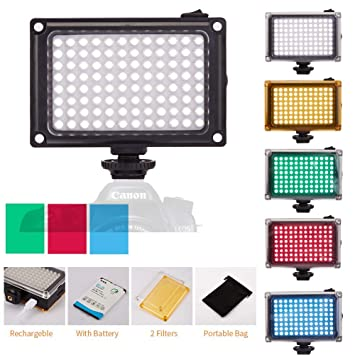 BESTFYOU - Luz LED Regulable para cámara Digital o cámara réflex ...