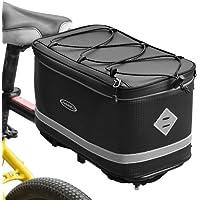 Lixada Fietstas, bagagedrager, fietskoffer, waterdichte fietstas, bagagedragertas met waterdichte regenhoes