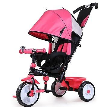 DACHUI Los niños Triciclo, Bicicleta, Carrito de bebé con Cuchara, 1-3