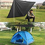 MEIBY Large Outdoor Picnic Blanket, Portable Lightweight Waterproof Sandproof Pocket Picnic Blanket for the Beach,Camping Travelling on Grass,210150cm/83''60''for 4-6 People (Black)