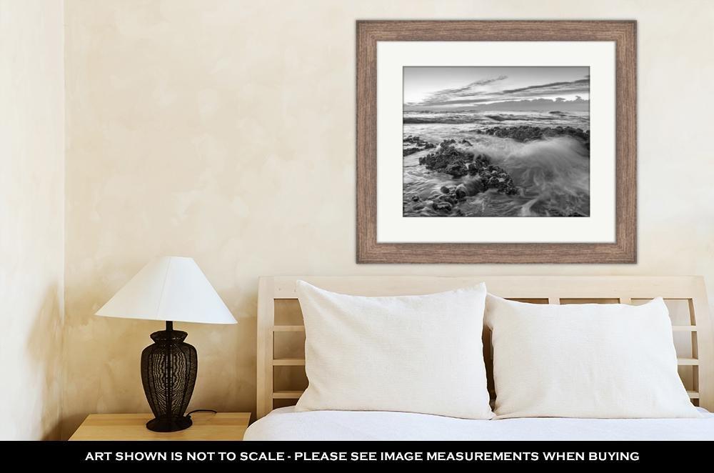 Amazon.com: Ashley Framed Prints Denia Alicante Las Rotas Rocky Beach in Spain, Wall Art Home Decoration, Black/White, 30x35 (Frame Size), Rustic Barn Wood ...