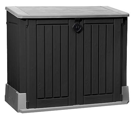 JYSK Garden Storage box HENNE W132xH110xD74 black: Amazon.co.uk ...