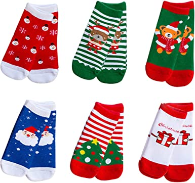 Christmas Socks for Babies 3 or 6 Pairs Assorted Stocking Fillers Several Sizes