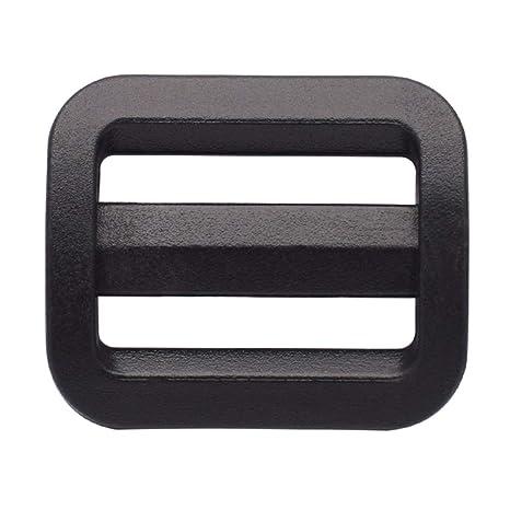 """20 mm plástico Tri deslizamiento hebilla cincha ajustable 3/4 """"Triglides negro pack"""