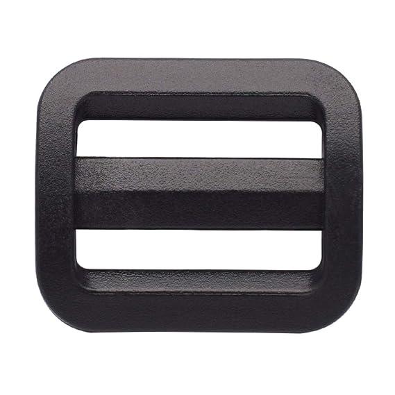 10 x 25mm White Plastic Delrin 3 Bar Slides Buckles Webbing Adjuster for Bags