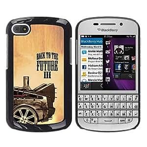 Paccase / SLIM PC / Aliminium Casa Carcasa Funda Case Cover para - Popular Future Movie Car Drawing Painting Art Wheel - BlackBerry Q10
