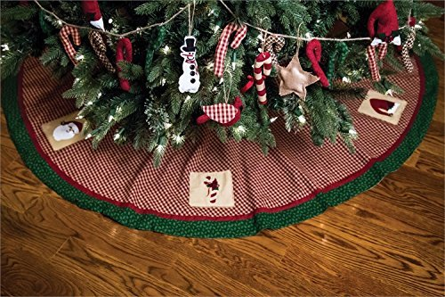 Christmas Sampler 60 Inch Tree Skirt (Christmas Tree Sampler)