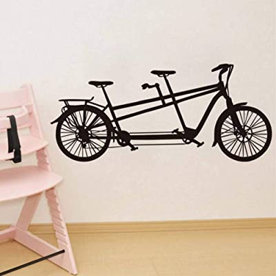 Vinyl Tandem Bike Removable for Kids Rooms Boys Decorationcreative Home Decor: Kitchen & Dining