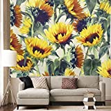 Tapestry Wall Hanging Yellow Sunflower Bloom Sunflower Tapestry for Wall Hanging Mandala Tapestry for Bedroom Yellow Sunflower Tapestry