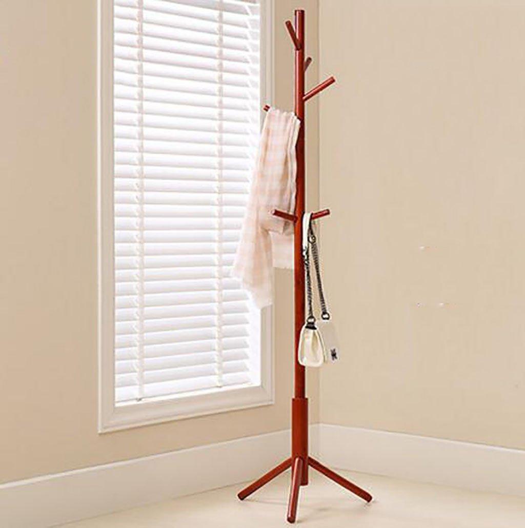 コートラックの床のベッドルームのコートストレージクリエイティブシンプルなソリッドウッドのリビングルームの服ラックハンガー (色 : C)  C B07R9QCZMT