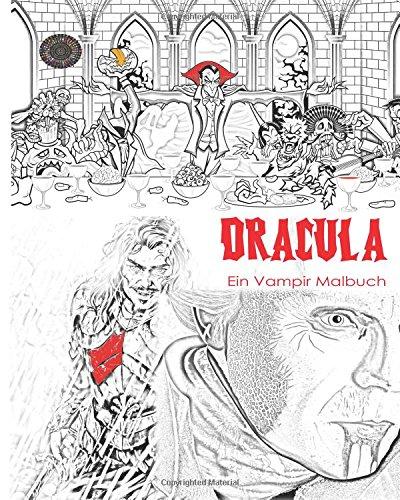 Dracula Malbuch: Stressfreies Erwachsenen Malbuch und Mandalas von ...