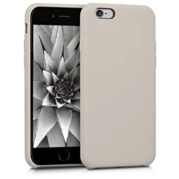 kwmobile Funda compatible con Apple iPhone 6 / 6S - Carcasa de TPU para móvil - Cover trasero en marrón topo