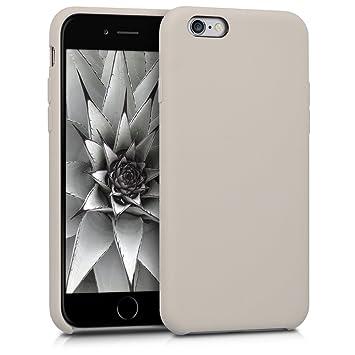 kwmobile Funda compatible con Apple iPhone 6 / 6S - Carcasa de TPU para móvil - Cover trasero en marrón topo