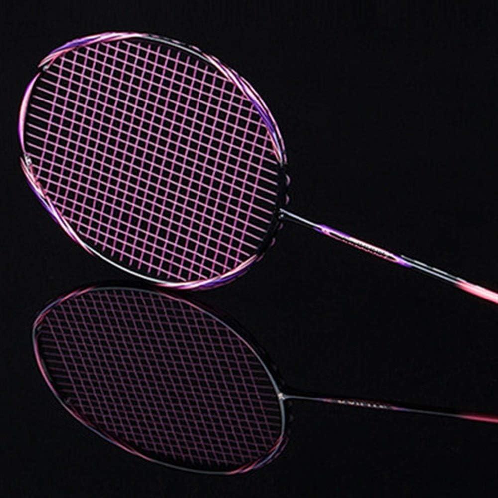 GJSC Multicolor Ultraligero 8U 65g de Fibra de Carbono Profesional Raqueta de bádminton con una Cuerda Bolsas Ofensivo Tipo Raquetas