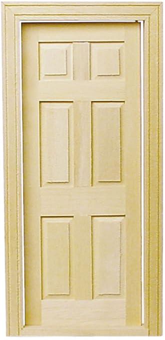 Dollhouse Miniature 6-Panel Traditional Door  sc 1 st  Amazon.com & Amazon.com: Dollhouse Miniature 6-Panel Traditional Door: Toys \u0026 Games