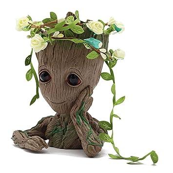 Meiqils Baby Groot Maceta Figura de acción con Forma de ...