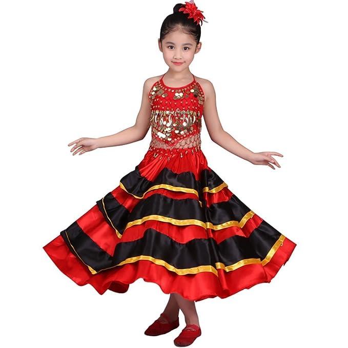 Dreamowl Spain Flamenco Skirt Belly Dance 360 Degree Circle Big