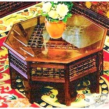 Grande Table Marocaine de Salon Moucharabieh Octogonale en ...